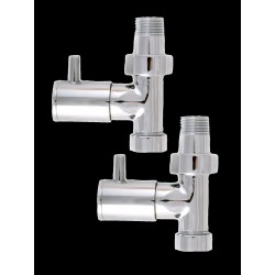 "Pair of Straight 1/2"" Chrome Towel Radiator Valves"