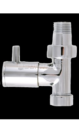 "Straight 1/2"" Chrome Towel Radiator Valve"