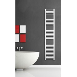 300mm Wide 1500mm High White Flat Towel Radiator