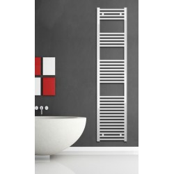 400mm Wide 1760mm High White Flat Towel Radiator