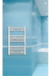 500mm Wide 800mm High White Flat Towel Radiator