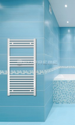 500mm Wide 1000mm High White Flat Towel Radiator