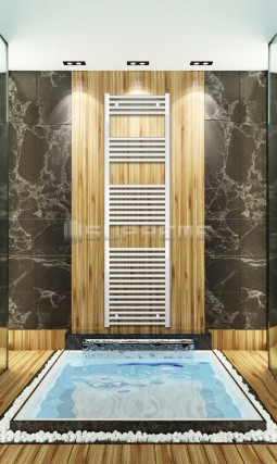 500mm Wide 1760mm High White Flat Towel Radiator