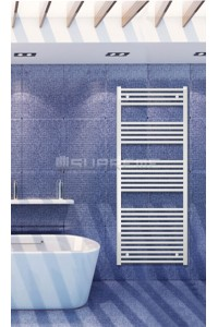 600mm Wide 1500mm High White Flat Towel Radiator