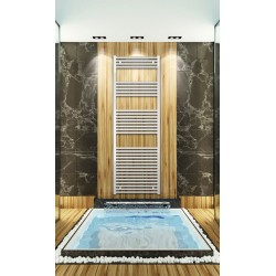 600mm Wide 1760mm High White Flat Towel Radiator