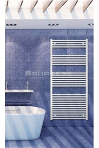 700mm Wide 1500mm High White Flat Towel Radiator