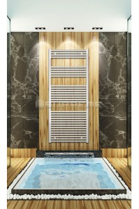 700mm Wide 1650mm High White Flat Towel Radiator