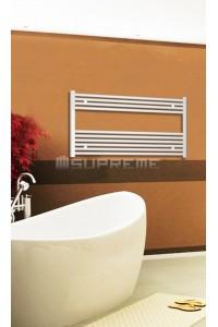 1000mm Wide 600mm High White Flat Towel Radiator