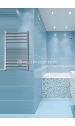 500mm Wide 800mm High Stainless Steel Brushed Towel Radiator