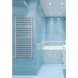 500mm Wide 1200mm High Stainless Steel Brushed Towel Radiator