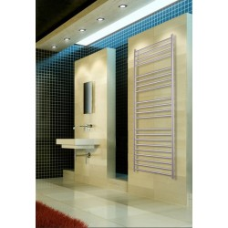 500mm Wide 1500mm High Stainless Steel Brushed Towel Radiator