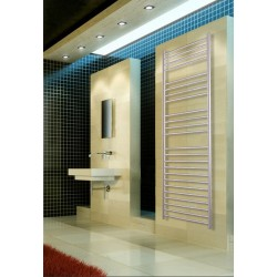 500mm Wide 1700mm High Stainless Steel Brushed Towel Radiator