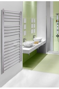 600mm Wide 1200mm High Stainless Steel Polished Towel Radiator