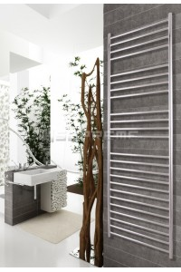 600mm Wide 1700mm High Stainless Steel Polished Towel Radiator