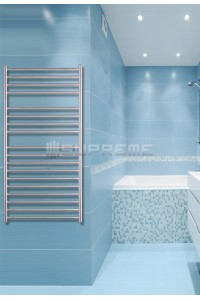 600mm Wide 1200mm High Stainless Steel Brushed Towel Radiator