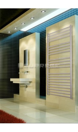 600mm Wide 1500mm High Stainless Steel Brushed Towel Radiator