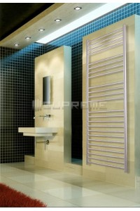 600mm Wide 1700mm High Stainless Steel Brushed Towel Radiator