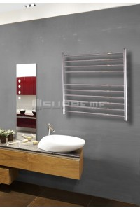 700mm Wide 700mm High Stainless Steel Polished Towel Radiator