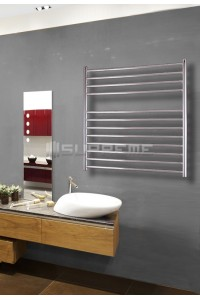 800mm Wide 800mm High Stainless Steel Brushed Towel Radiator
