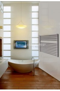 1000mm Wide 800mm High Stainless Steel Brushed Towel Radiator