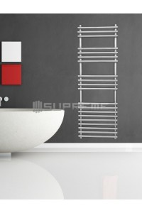 400mm Wide 1200mm High Stainless Steel Designer Towel Radiator