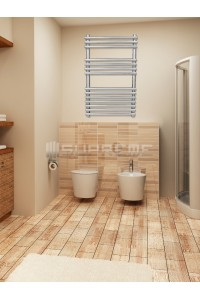 500mm Wide 800mm High Stainless Steel Designer Towel Radiator