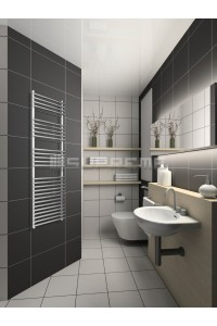 500mm Wide 1500mm High Stainless Steel Designer Towel Radiator
