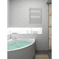 600mm Wide 800mm High Stainless Steel Designer Towel Radiator