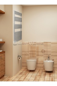 600mm Wide 1200mm High Stainless Steel Designer Towel Radiator
