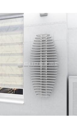 600mm Wide 1300mm High Supreme Chrome Designer Towel Radiator