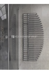 600mm Wide 1400mm High Supreme Chrome Designer Towel Radiator