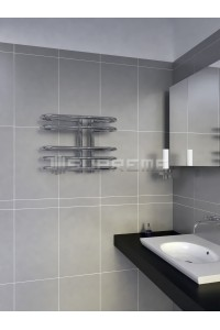 500mm Wide 400mm High Supreme Chrome Designer Towel Radiator