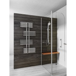 500mm Wide 1200mm High Supreme Chrome Designer Towel Radiator