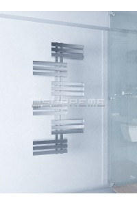 600mm Wide 1300mm High Supreme Chrome Designer Mirror Effect Towel Radiator
