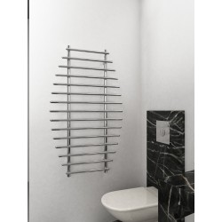 700mm Wide 1200mm High Supreme Chrome Designer Towel Radiator