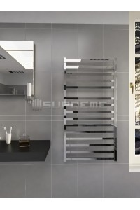 600mm Wide 1165mm High Supreme Chrome Designer Square Tube Towel Radiator