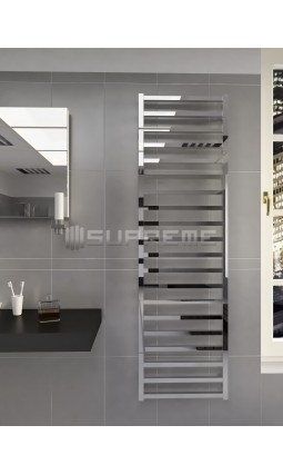 500mm Wide 1700mm High Supreme Chrome Designer Square Tube Towel Radiator