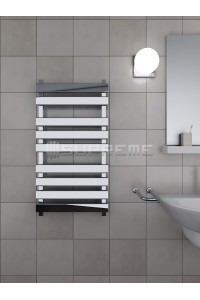 500mm Wide 950mm High Supreme Chrome Designer Rectangular Pipe Towel Radiator