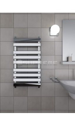 500mm Wide 950mm High Supreme Chrome Designer Rectangular Pipe Towel Radiator