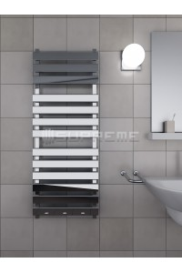 500mm Wide 1300mm High Supreme Chrome Designer Rectangular Pipe Towel Radiator