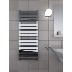 500mm Wide 1300mm High Supreme Chrome Designer Rectangular Pipe Towel Radiator