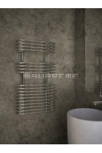 500mm Wide 900mm High Supreme Chrome Designer Circular Tube Towel Radiator