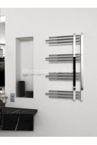 500mm Wide 900mm High Supreme Chrome Designer Round Pipe Towel Radiator