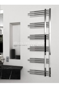 500mm Wide 1500mm High Supreme Chrome Designer Towel Radiator