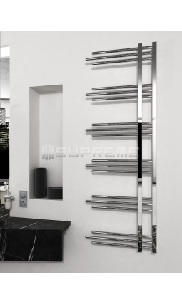 500mm Wide 1500mm High Supreme Chrome Designer Round Pipe Towel Radiator