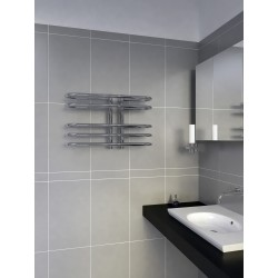600mm Wide 400mm High Supreme Chrome Designer Towel Radiator