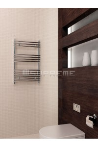 500mm Wide 800mm High Supreme Chrome Designer Tube on Tube Towel Radiator