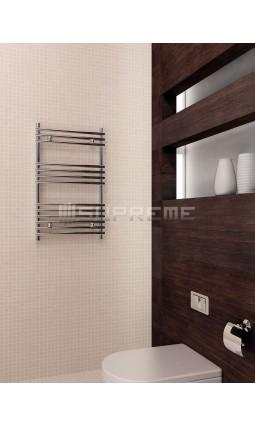 500mm Wide 800mm High Supreme Chrome Designer Tube on Tube Towel Radiator