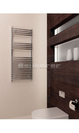 500mm Wide 1200mm High Supreme Chrome Designer Tube on Tube Towel Radiator