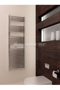 500mm Wide 1600mm High Supreme Chrome Designer Towel Radiator